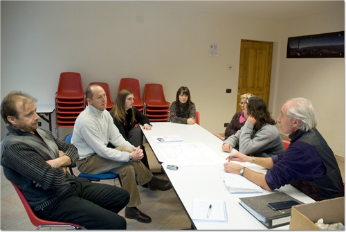 Vergadering op de gemeente Bionaz.