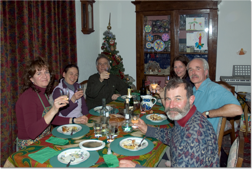 Feestmaal bij de familie Gaillard.