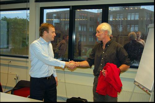 Frits Vrijlandt (links) en Arjen Bakermans